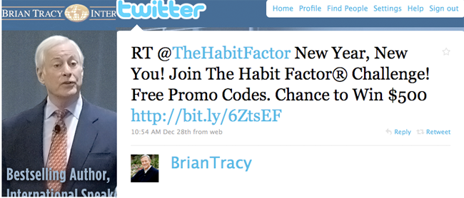 Brian Tracy, The Habit Factor® Challenge